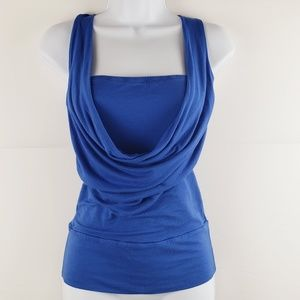 Wet Seal Blue Draped Front Tank Size Small